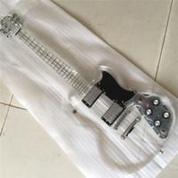 ingrosso luci chitarra elettrica acrilica-Spedizione gratuita, chitarra acrilica collo acrilico Lzeal corpo tutto chitarra acrilica guitrra blu di qualità led luce sulla chitarra elettrica
