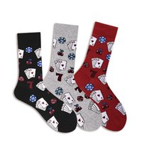 Wholesale poker accessories for sale - Group buy Casual Socks Dice Poker Card Printed Anti slip Breathable Cotton Hosiery Footwear Accessories Fitness Women Men s Sportswear New
