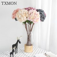 Wholesale single flower paintings resale online - Single oil painting hydrangea cm high quality simulation silk flower window home wedding decoration Artificial fake flower