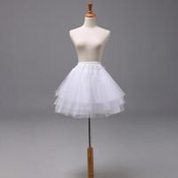 siyah düğün çiçekleri toptan satış-Siyah Çocuk Petticoats Düğün Gelin Aksesuarları Yarım Kayma Küçük Kızlar Kabarık Etek 22 cm 35 cm 45 cm Çiçek Kız Resmi Elbise etek Altında