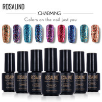 ingrosso colla del chiodo diamante-ROSALIND Black Bottle 7ML Diamond Glitter W01-29 Gel per unghie Nail Polish Gel Polish UVLED Soak-Off Glitter Platinum Glue