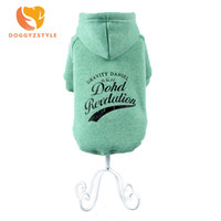 теплый шлем любимчика для зимы оптовых-Casual Letters Hat Coat Dog Clothes Warm Autumn Winter Clothing Sweater Apparel Pets Cat For Small Dogs Teddy Chihuahua