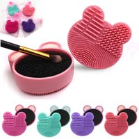 Wholesale Makeup Brush Cleaner Silicone Washing Brushes Cleaning Sponge and Mat Cosmetic brushes Clean Scrubber Foundation Cleaning Pad Make up Tool
