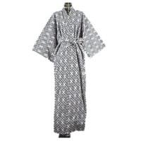 algodón yukata al por mayor-2017 fresco tradicional japonés masculino kimono hombres robe yukata 100% algodón hombres bata de baño kimono ropa de dormir con cinturón 62502