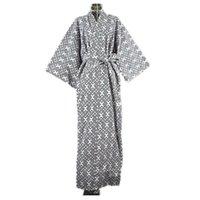 yukata baumwolle großhandel-2017 kühle Traditionelle Japanische Männliche Kimono männer Robe Yukata 100% Baumwolle männer Bademantel Kimono Nachtwäsche mit Gürtel 62502