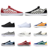 Wholesale shoes women old for sale - Group buy 2020 van fashion canvas sneakers old skool men women skateboard shoes fear of god classic black fashion mens trainer sports shoe