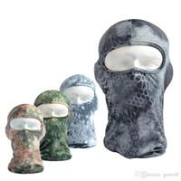militärische taktische masken großhandel-Tarnungs-Schlange Breathful Lycra-Vollgesichts-Fahrrad-Maske taktische Bavaclava-Hüte, die Schutzausrüstung für Militärmotorrad Snowboard radfahren