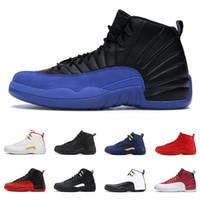 zapatos negros de los hombres franceses al por mayor-12 12s zapatos de baloncesto para hombre juego real rojo negro azul de triple Universidad francesa del maestro de tamaño CNY hombres zapatillas deportivas 7-13