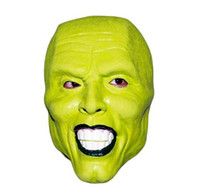 jim carrey maske groihandel-Hot !!! Halloween Die Maske Jim Carrey Cosplay Grüne Maske Kostüm Erwachsene Kostüm Gesicht Halloween Maskerade Party Cosplay Filme Maske