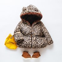 Wholesale cute baby girl winter coats resale online - 2019 Autumn Winter New Fashion Children Girl Coat Casual cute Jackets Girl s Hooded Kids Clothing Leopard Baby Warm Jacket