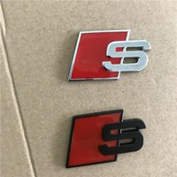 ingrosso logo nero vw-unsoggiorno Car metallo S Logo Sline distintivo dell'emblema autoadesivo Rosso Nero Anteriore Posteriore Boot Side Door In forma per l'Audi Quattro VW TT SQ5 S6 S7 A4 Accessori