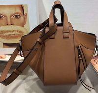 ingrosso pelle di amaca-Tote bag amaca di alta qualità in vera pelle di alta qualità spalla geometrica borsa borsa amaca