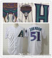 preto paul goldschmidt jersey venda por atacado-Malha Retro Preto Branco Arizona Jersey Jersey Diamondbacks 51 Randy Johnson 44 Paul Goldschmidt Jerseys tamanho m-xxxl rápido frete grátis