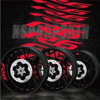 decalques yamaha venda por atacado-Novos pneus legal modificado adesivos da motocicleta logotipo interno da roda personalidade reflexiva aro decalques decorativos para YAMAHA R6