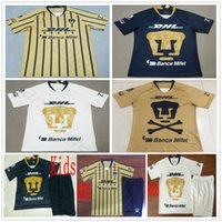 clube de futebol da juventude venda por atacado-18 19 MX Clube UNAM Camisas De Futebol GUERRON CALDERON FORMICA CASTILLO ABRAHAM Costume 2019 adulto crianças juventude camisa de futebol Camisa de futebol