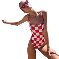 nuevos trajes de baño para mujer al por mayor-Las nuevas mujeres del bikiní atractivo del verano del estilo de eslingas de una pieza del traje de baño de las mujeres Set Beach bañador 3 colores