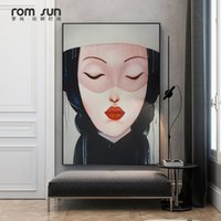 Wholesale pop art wall decoration resale online - Abstract Abstinence Lady Lil Peep Canvas Poster Print For Living Room Dining Room Painting On The Wall Home Decoration Pop Art
