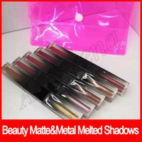 Wholesale new lipstick shadow for sale - Group buy 2019 New Beauty matte metal melted shadows Eye Makeup Lip cosmetics Eyeshadow Lipgloss Liquid lipstick sets colors