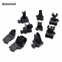 Wholesale front rear sight black for sale - Group buy Hunting Combat Flip Up Rear Front Sight Folding Iron Sights Degree Rapid Offset Transition for Black