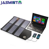 cargador solar de teléfono celular al por mayor-36W 18V Dual USB Cargador solar avanzado Plegable Flexible Panel solar para teléfonos celulares Tabletas Laptop Car Battery etc para acampar