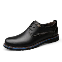 Wholesale nice handmade dress resale online - British Style Men Genuine Leather Shoes Classic Business Casual Shoes Fashion Handmade Dress Flats Oxfords Nice New