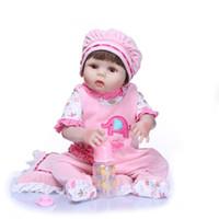 silikon bebek canlı bebek toptan satış-57 CM Tam Silikon Reborn Baby Doll Çocuk Oyun Arkadaşı Hediye Kızlar Için Vinil Bebes Reborn Brinquedo Için Bebek Kız Alive Yumuşak Oyuncaklar