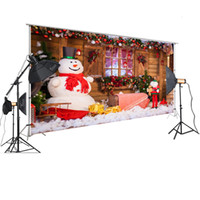 Wholesale outdoor christmas backdrops for sale - Group buy HUAYI Photography Backdrop Christmas Party Outdoor Scene Snowman Pendant Ornamental Props Vintage Window Background XT