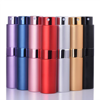 Wholesale spray bottles resale online - 2019 New ML Mini Aluminum Perfume Bottle Empty Filling Spray Perfume Container Atomizer Rotary Bottle