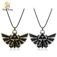 Wholesale zelda jewelry for sale - Group buy Anime Necklace The Legend of Zelda Necklace Pendants High Quality Anime Jewelry Maxi Necklace for Women Men Gift Leather Necklaces