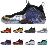 Wholesale foam running shoes for sale - Group buy BMWT Hardaway Men Basketball Shoes Foam One Abalone Habanero Red Floral Penny Black Metallic Gold Alternate Fleece Sports Sneakers