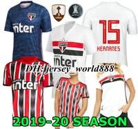 verein neue trikots großhandel-DIEGO SOUZA NENE 19 20 Sao Paulo Trikot auswärts schwarz rot Fußball NEU 2019 2020 Hernanes REINALDO Brazil Club Home weißes Fußballtrikot GOLEIRO
