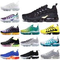 artı boyutu beyaz kırmızı toptan satış-Nike Air Vapormax TN PLUS off white En Kaliteli Koşu Ayakkabı Erkek Kadın Favori HavamaksimumVapormax TN Artı Blakc kırmızı Tasarımcı Spor Sneaker Yeni Geliş Boyut 36-47