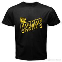 neuer punkrock großhandel-Neues THE CRAMPS Punk Rock Band Logo New Wave Herren Schwarzes T-Shirt Größe S bis 3XL