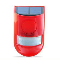 luces de advertencia de alarma al por mayor-Novedad Sensor del cuerpo humano Advertencia Luz LED Luz de alarma solar inteligente Encendido Luz de seguridad intermitente Lámpara de advertencia