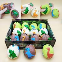 bolas de goma para aliviar el estrés al por mayor-Colorido huevo de dinosaurio Squeeze Dragon Ball Venting Toy Novedad caucho Bolas de ventilación Calmante para el estrés Gadgets divertidos juguetes para niños Hotsale