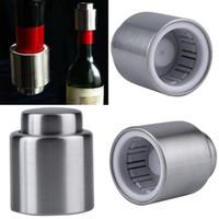 ingrosso bottiglia a vuoto tappo vino sigillato-di vendita calda in acciaio inox vuoto bottiglia di vino chiusa Rosso bagagli Stopper Plug Tappo di bottiglia Premendo vino rosso tipo Stopper