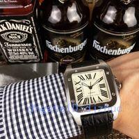 ingrosso sport automatico di lusso di vigilanza-2019 orologi di lusso caldi 40 millimetri in acciaio inossidabile orologio cinturino in pelle movimento automatico meccanico cassa argento mens orologi sportivi da polso