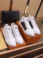 zapatos de trabajo casual de negocios hombres al por mayor-0 0LOUISVUITTON Moda Lona de alta calidad Zapatos casuales blancos Zapatos para hombre Zapatos de hombre de negocios para hombres # 12