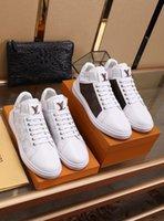 iş rahat iş ayakkabıları erkekler toptan satış-0LOUISVUITTON Moda Yüksek Kaliteli Tuval Rahat Beyaz Ayakkabı Erkek Ayakkabı Adam iş iş erkek ayakkabı # 12