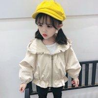 bebek kız kore kırmızı elbise toptan satış-Bebek tarzı rüzgarlık kız bebek ceket ilkbahar ve sonbahar gelgit yeni net kırmızı sonbahar elbise ince Kore versiyonu kız ceket
