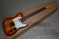 Wholesale flamed maple electric guitar for sale - Group buy Flame maple neck instrument Custom shop Real photo Ameican Sandard VOS Sunburst TL Electric Guitar