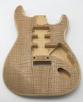 elektrikli gitar bitmemiş gövde toptan satış-Elektrik gitar bitmemiş vücut + Stratocaster 2018 için bitmemiş boyun