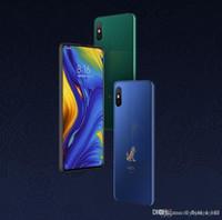 ingrosso telefoni cellulari android di grande schermo-Originale Xiaomi Mi Mix 3 Mix3 8GB Snapdragon da 256 GB 845 da 6,39 pollici AMOLED Cellulare 2 Front 2 Telecamere posteriori Wireless Char