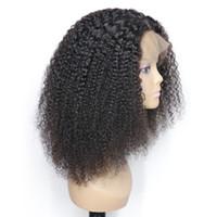 22 inç peruk toptan satış-Ağır yoğunluklu 24 inç uzun ve kalın perulu afro kinky siyah kadınlar için kıvırcık dantel ön tam dantel peruk