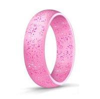 o ring silikon freies verschiffen großhandel-Draußen bunte Silikon-Ring-flexible hypoallergene Gummisilikon-Unisexo-Ringe, die Sport-Band-Ringe Wedding sind, geben Verschiffen frei