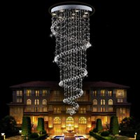 Wholesale long chandeliers for stairs for sale - Group buy Modern led Spiral Lustre Crystal Ceiling Light Fixtures Long Stair Light for Staircase Hotel Foyer Living Room chandeliers Lamp