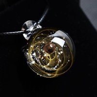 Wholesale glasses rope pearl resale online - Universe Glass Bead Planets Pendant Necklace Galaxy Rope Chain Solar System Design Necklace for Women Christams Gift