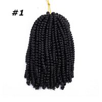 Wholesale spring twist braiding hair for sale - Group buy Synthetic Crochet Braiding Hair Single Ombre Color Spring Twist Synthetic Hair Extensions g Strands Best Selling