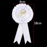 Wholesale shoulder dress decorations for sale - BRIDE TO BE Wedding Dress Ornament Bachelorette Party Decorate Veil Shoulder Strap Badge String Of Flags Leg Circle Piece Suit qrb1