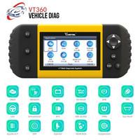 Wholesale diagnostic odometer tool resale online - Vdiagetool VT360 Automotive Diagnostic Tool OBD2 Scanner Odometer Correction Tool Key Programmer DHL